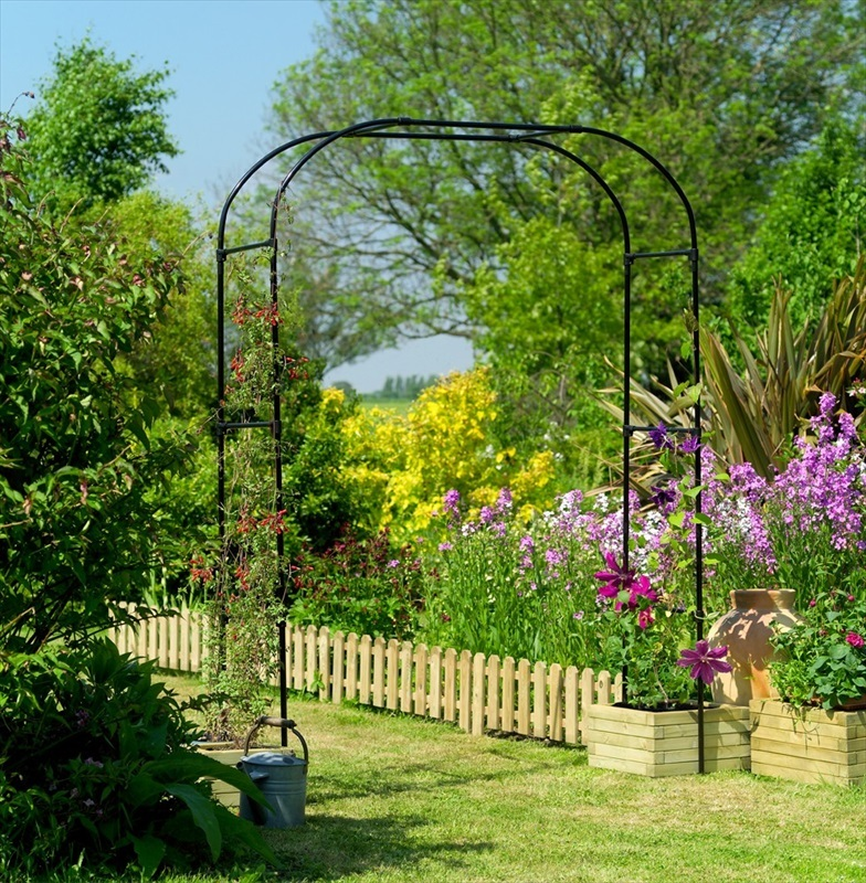 Gardman extra wide garden arch the garden factory for Garden arches designs