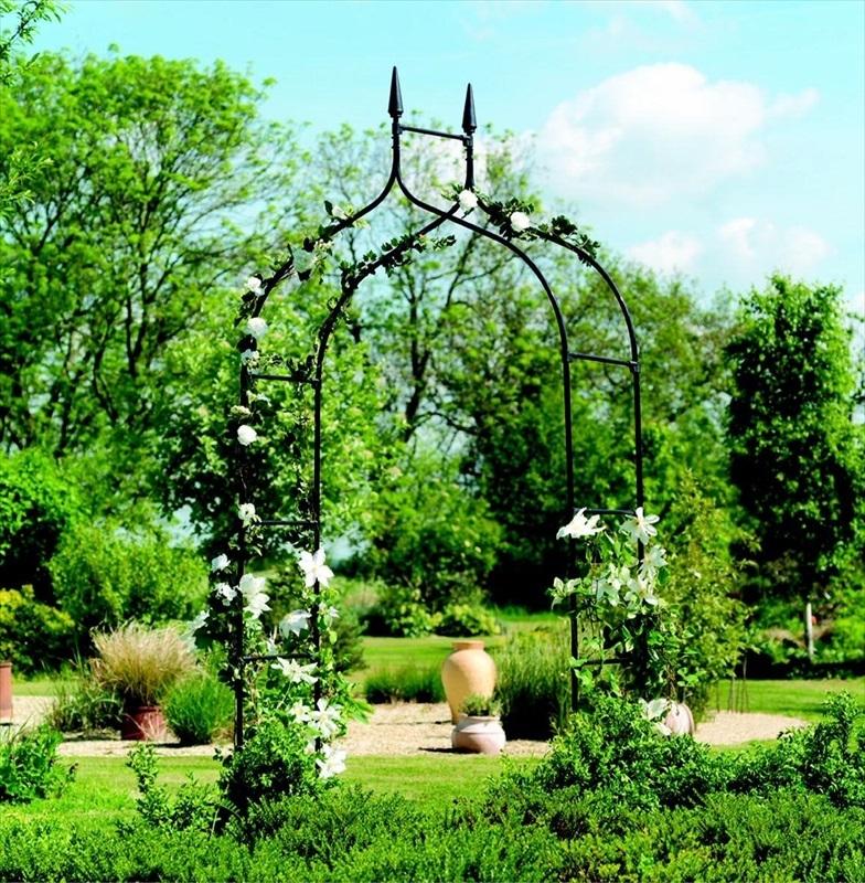 Gothic Metal Garden Arch The Garden Factory