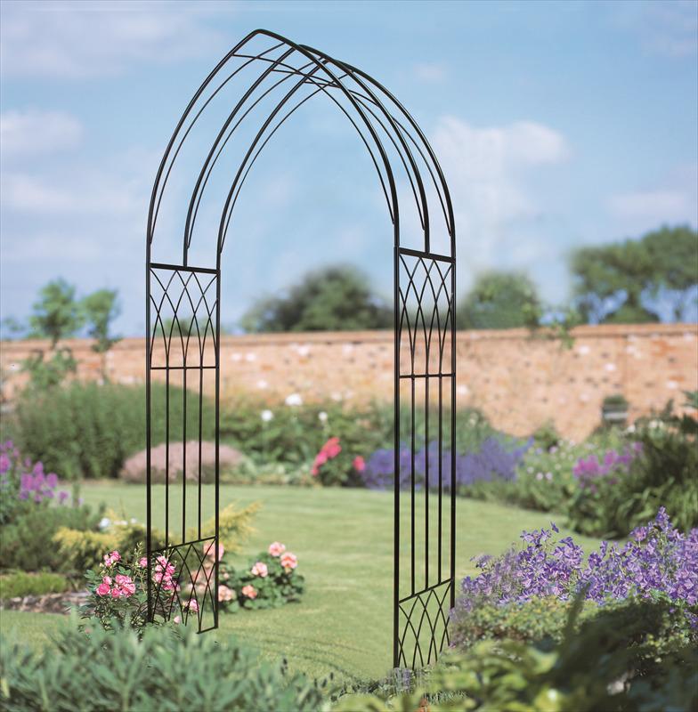 Abbey Gothic Metal Garden Arch The Garden Factory