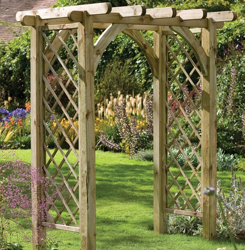 Ultima wood pergola garden arch the garden factory - Garden wood arches ...