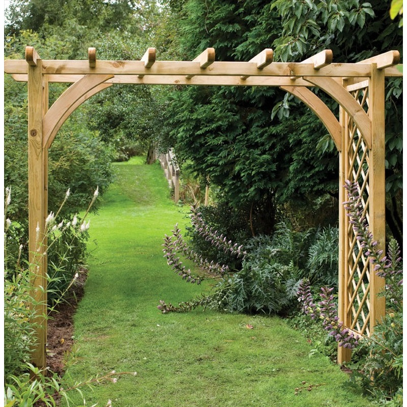 large ultima pergola garden arch the garden factory. Black Bedroom Furniture Sets. Home Design Ideas