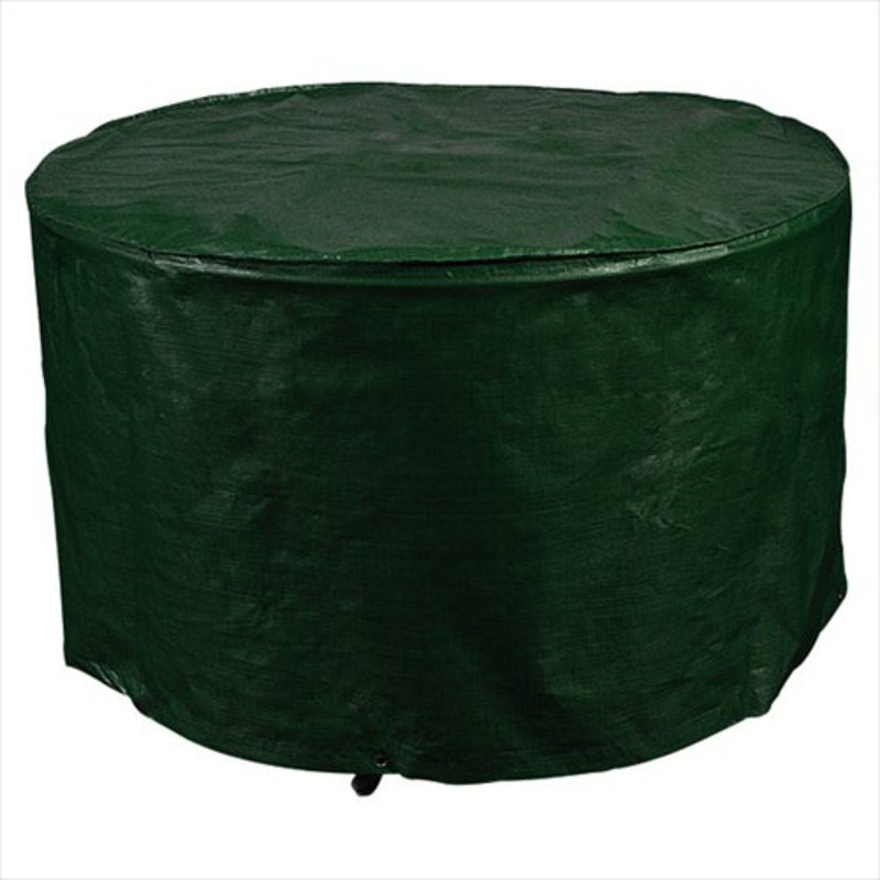 Round table cover 4 seater the garden factory for Green furniture covers