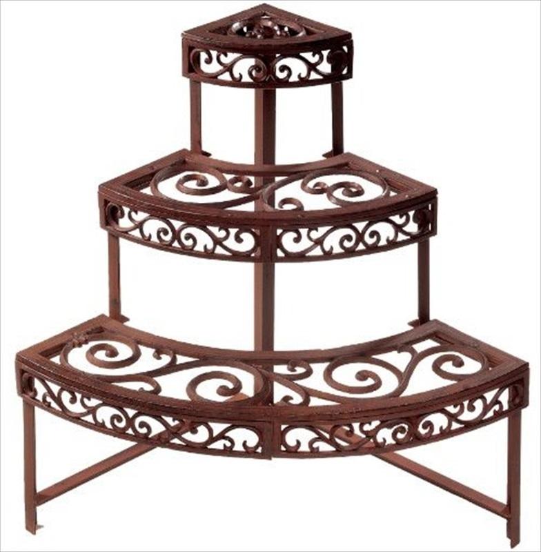 etagere garden plant stand quarter the garden factory. Black Bedroom Furniture Sets. Home Design Ideas