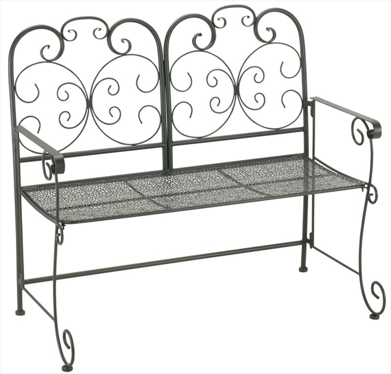 Madrid Folding Metal Garden Bench