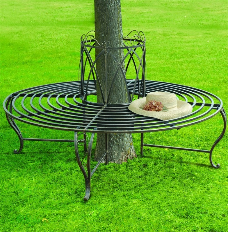 Chelsea circular 360 deg tree bench the garden factory Circular tree bench
