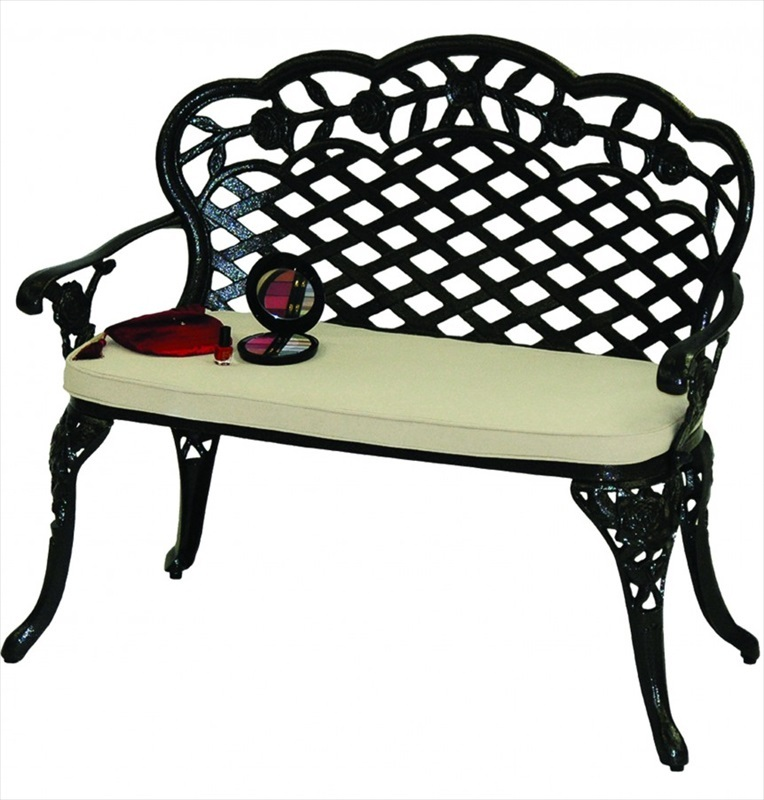 Love Seat Bench Rose Love Seat Bench And Seat Pad The Garden Factory
