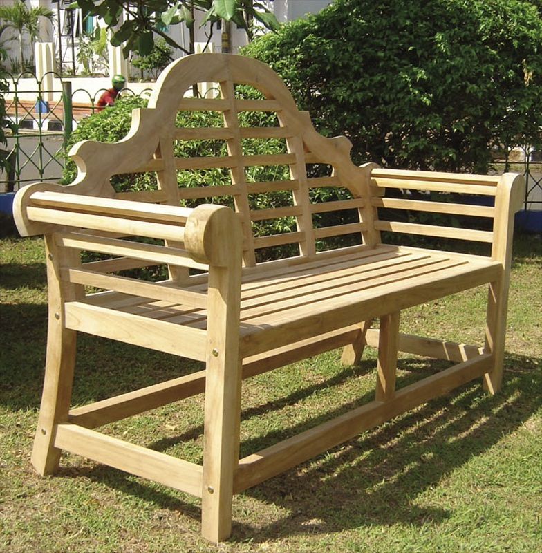 Teak lutyens garden bench pre built the garden factory Lutyens bench