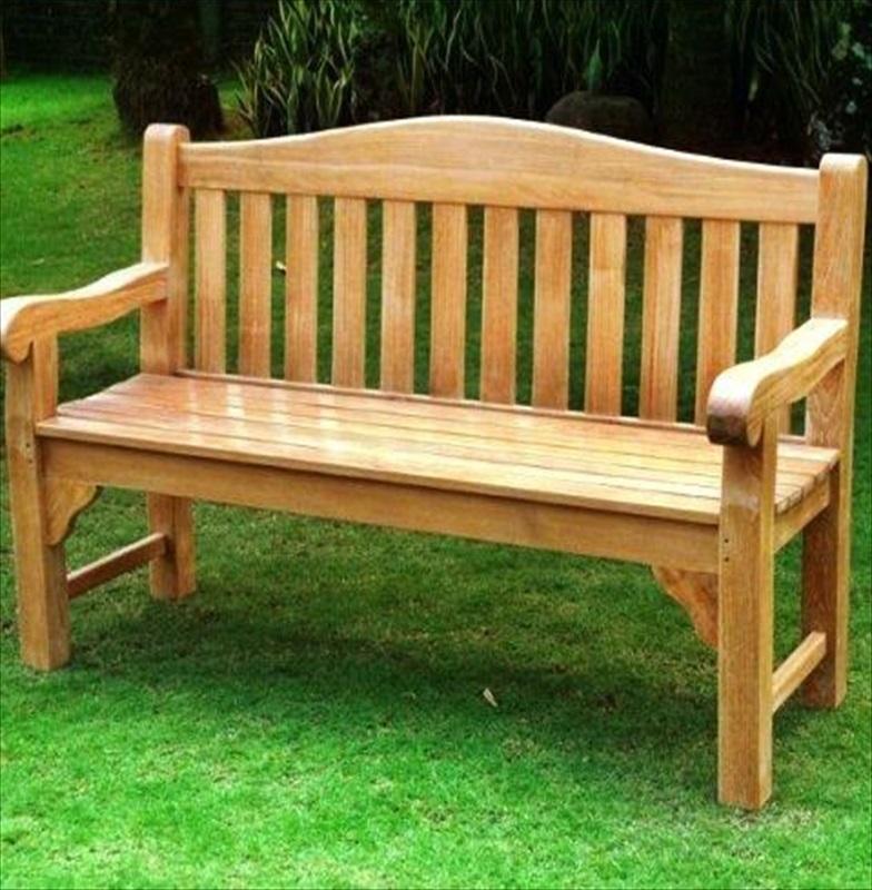 Teak Chunky Oxford Garden Bench 150cm