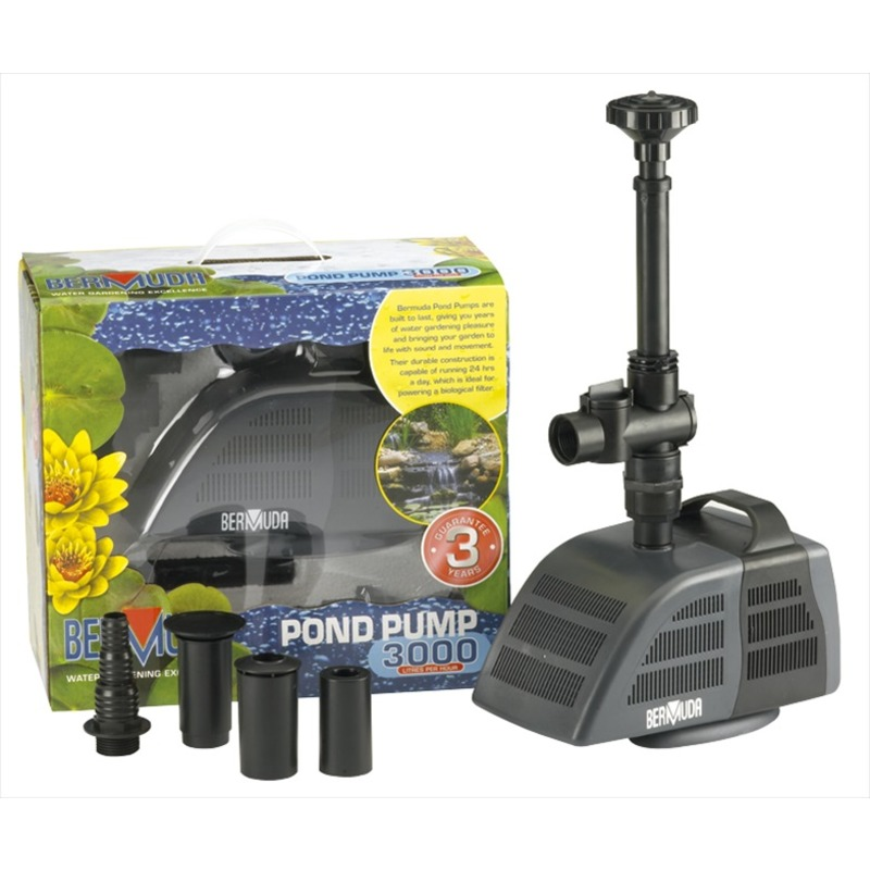 Bermuda submersible pump 3000 the garden factory for Pond water pump
