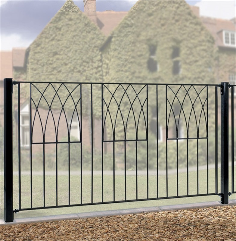 Abbey metal fence panel ft wide the garden factory