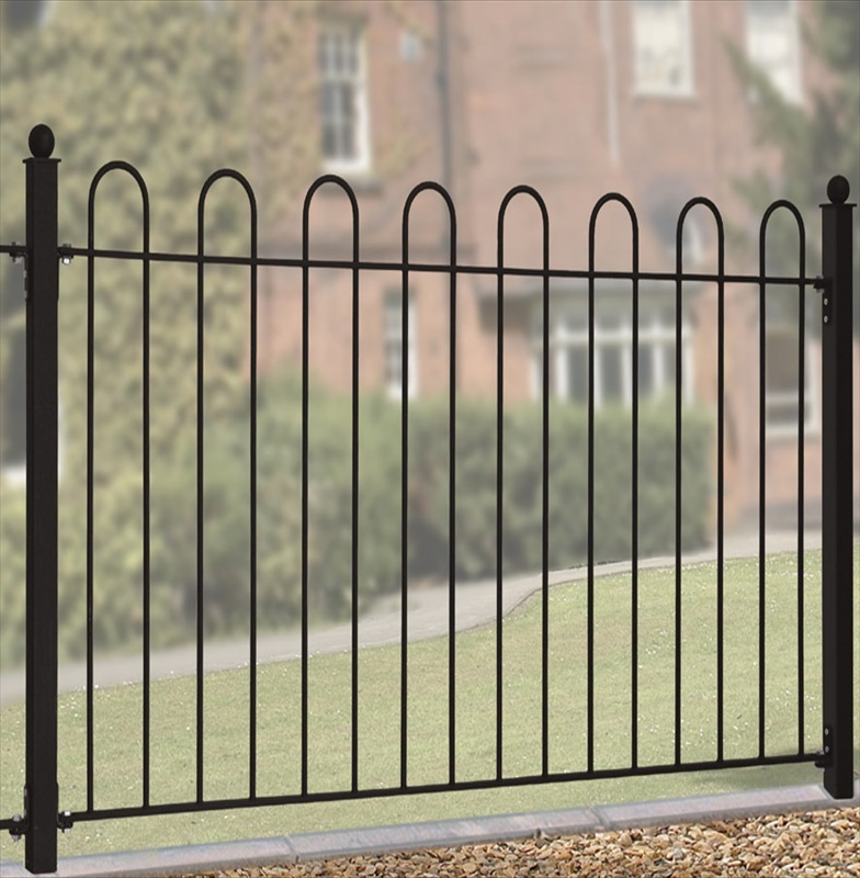 Court metal panel 37in steel fencing the garden factory - Aluminum vs steel fencing ...