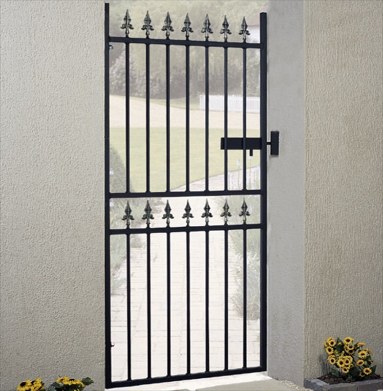 Corfe Tall Single Metal Garden Gate