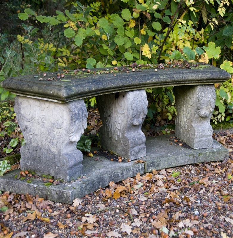 Italian curved bench seat in stone the garden factory Stone garden bench