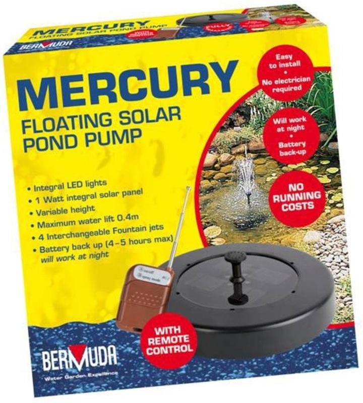 Mercury Float Solar Fount Pump The Garden Factory