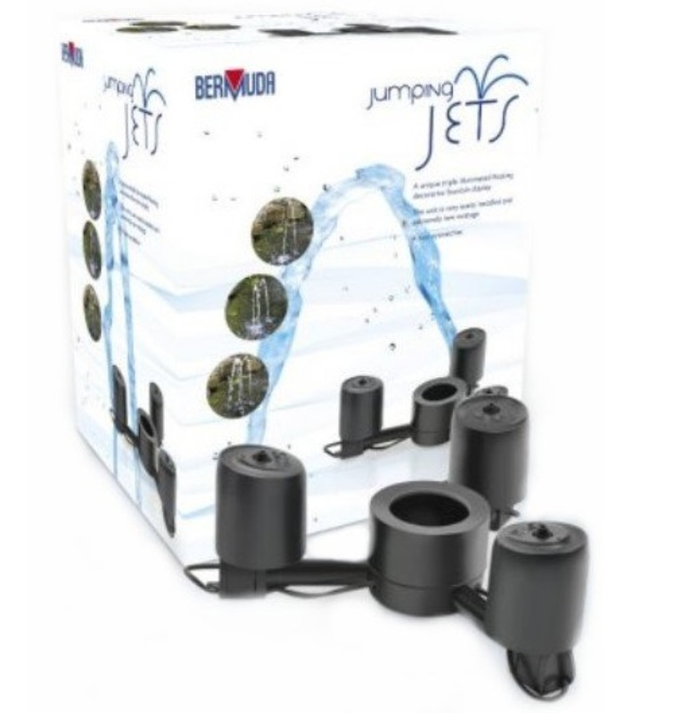 Bermuda jumping jet fountain pump the garden factory for Fish pond pump accessories