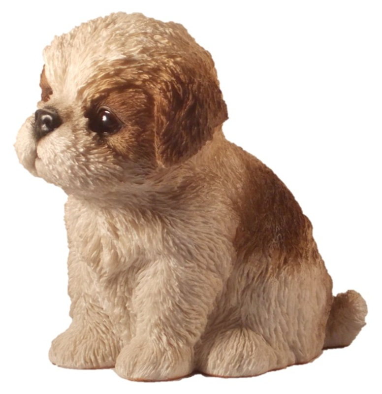 Lovely Shih Tzu Puppy Baby Dog Pet Pal Garden Ornament