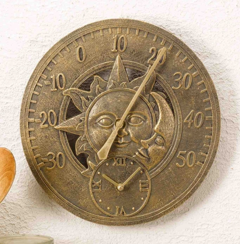 Outdoor Garden Clocks Sun Moon The Garden Factory
