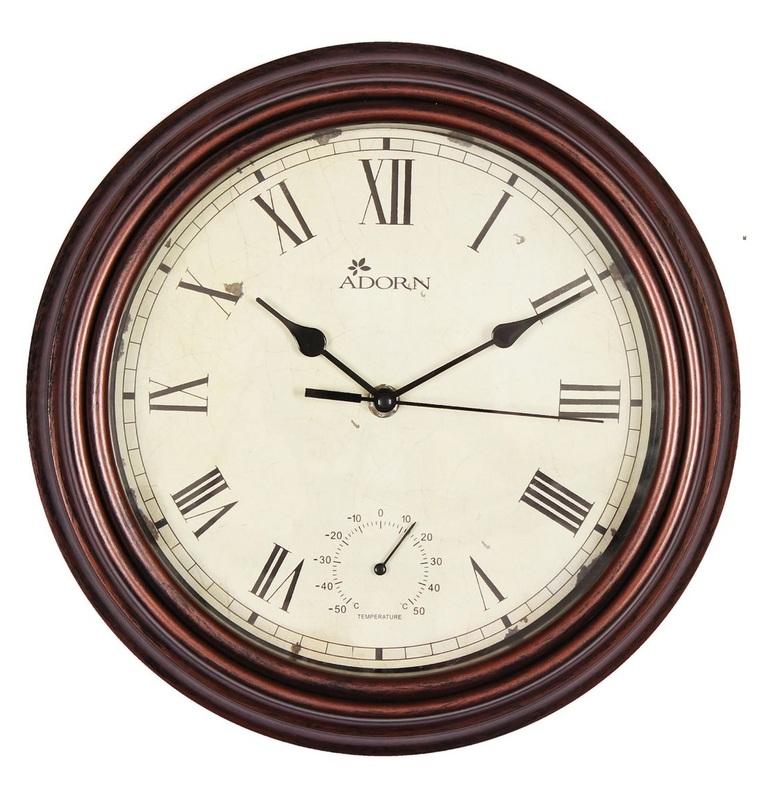 Garden Clock Thermometer Drayton The Factory
