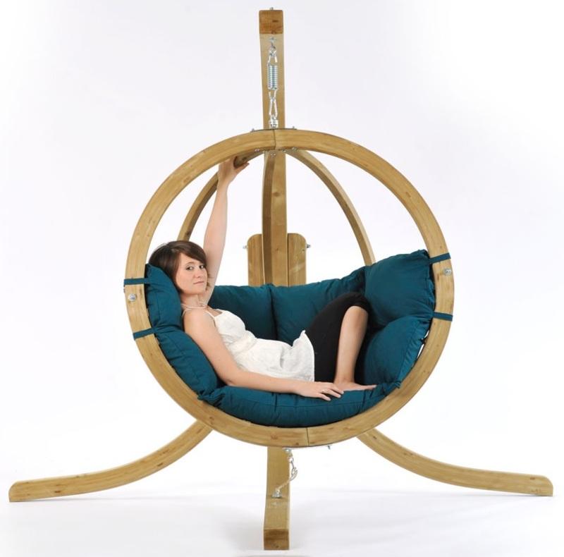 globo single pod chair only green the garden factory