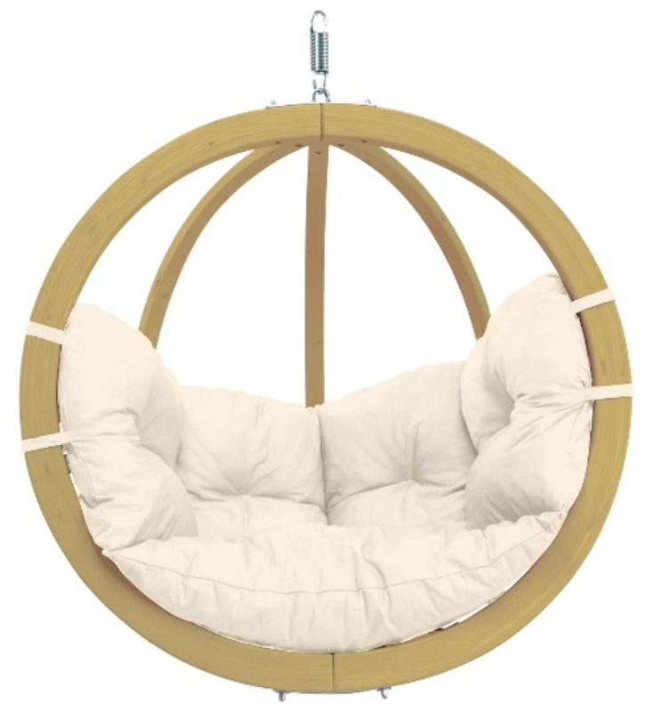 globo single pod chair only natural the garden factory