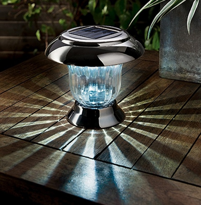 Nickel Black Post Or Table Solar Light The Garden Factory