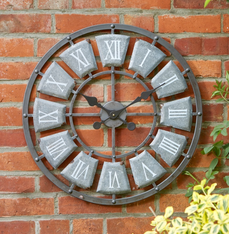 garden outside wall clock large 62cm indoor or outdoor clock