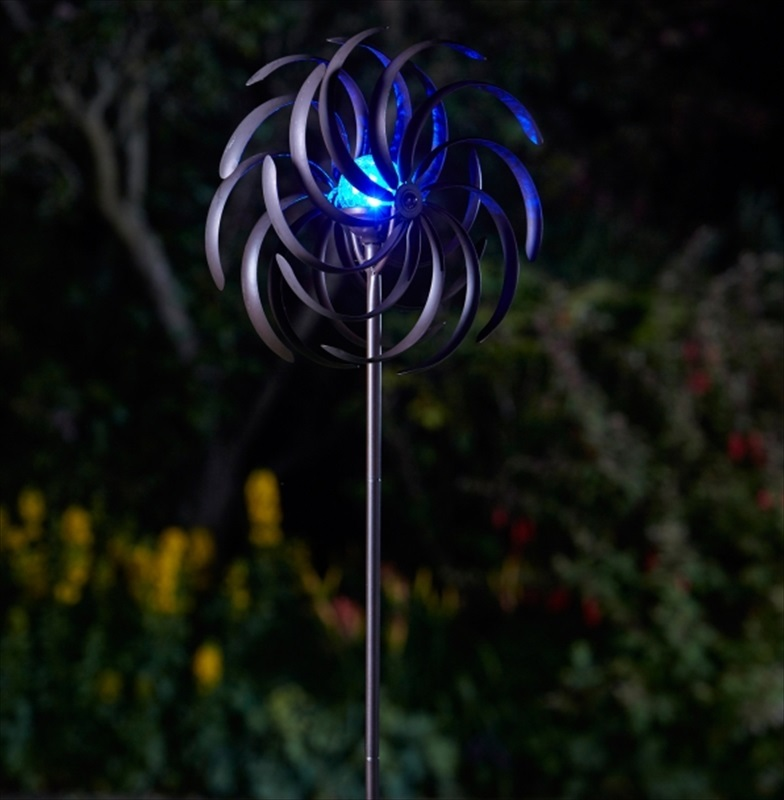 Spiro Illuminated Solar Wind Spinner The Garden Factory