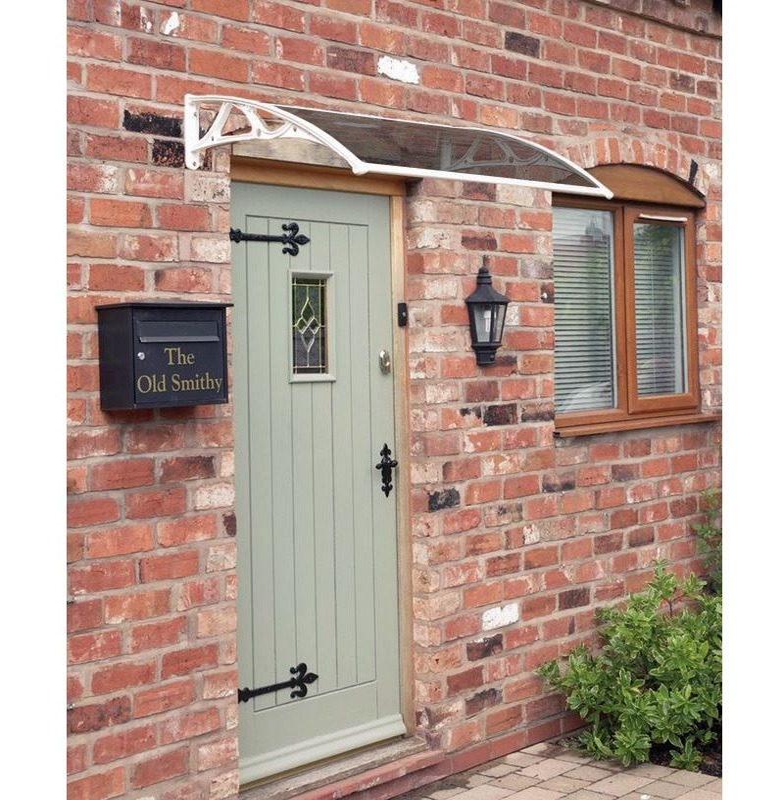 Easy Fit Door Canopy in White - 1m or 1.2m Wide - Grey Cover  sc 1 st  The Garden Factory & Easy Fit Door Canopy | White 1/1.2m - The Garden Factory