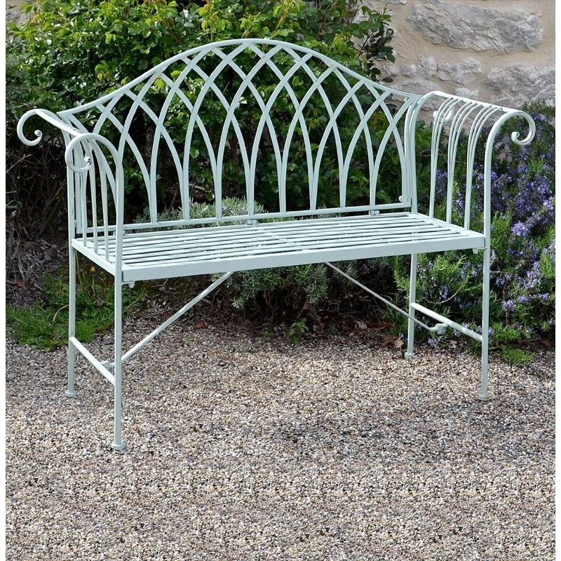Fairford Scrolled Metal Garden Bench The Garden Factory