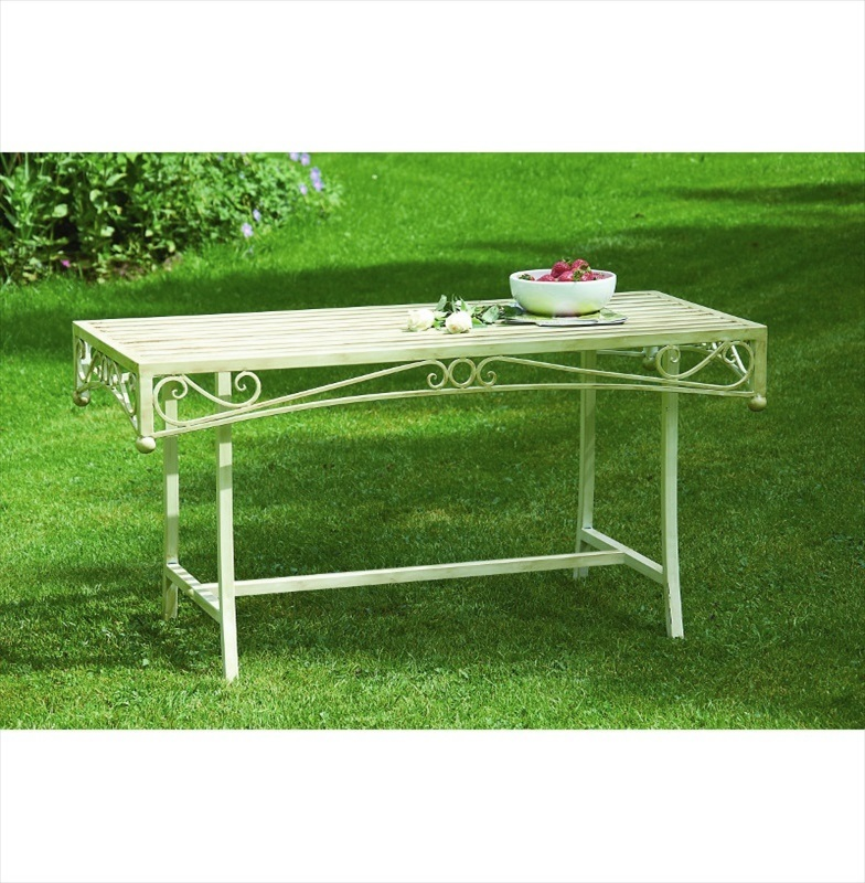 Versailles Metal Coffee Table Cream The Garden Factory