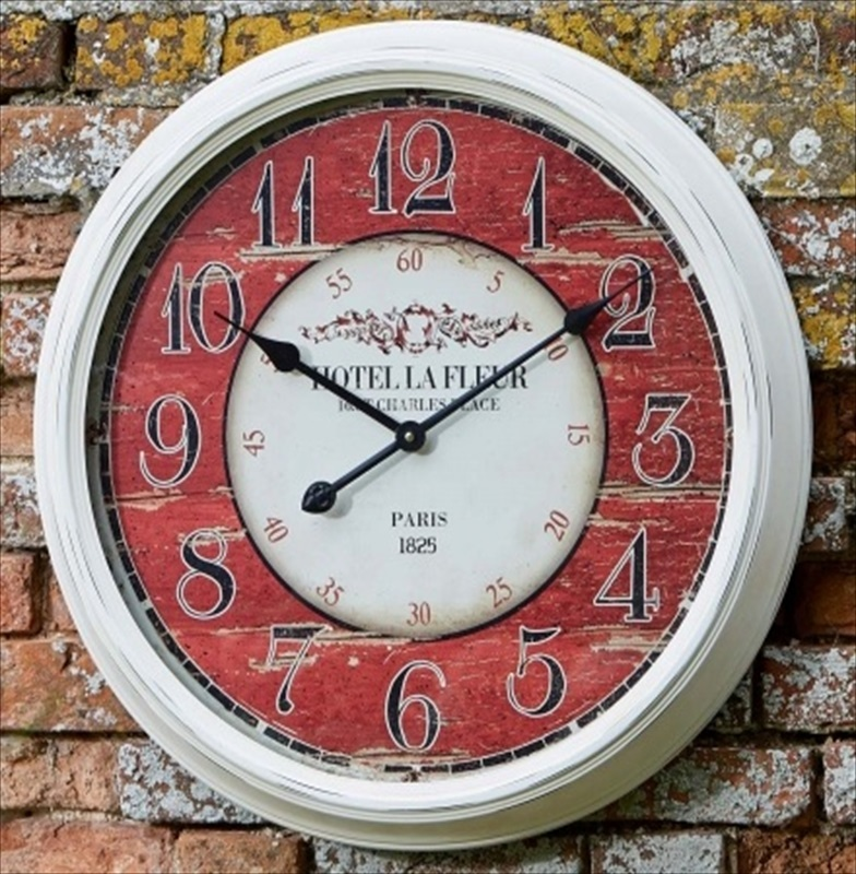 grenoble outdoor wall clock french design the garden