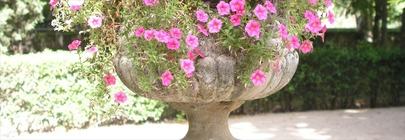 Urns & Pedestals - Cast Iron & Stone