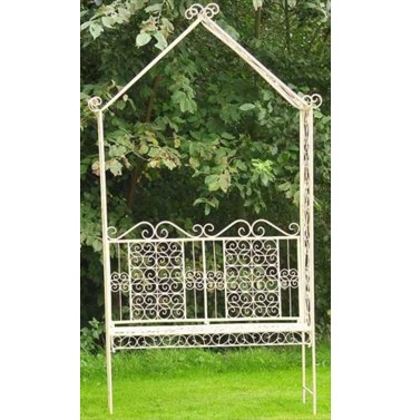 Old Rectory Metal Bench With Arch Arbour