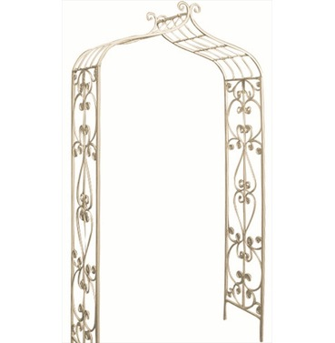 Metal Garden Rose Arch - Old Rectory Arch - Antique Cream