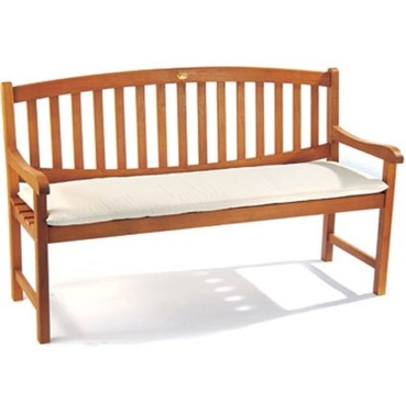 Garden 3 Seater Bench Cushion - Natural