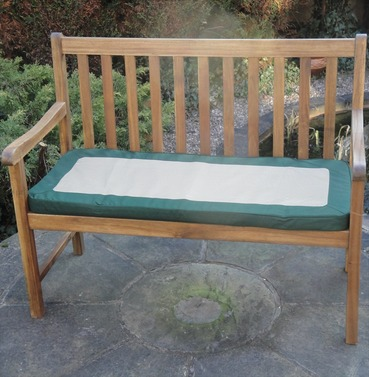 Garden 2 Seater Bench Cushion Green