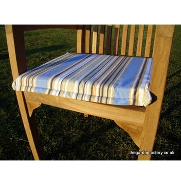 Garden Striped Armchair Pad Cushion