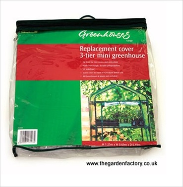 Mini 3 Tier Greenhouse Replacement Cover D/L