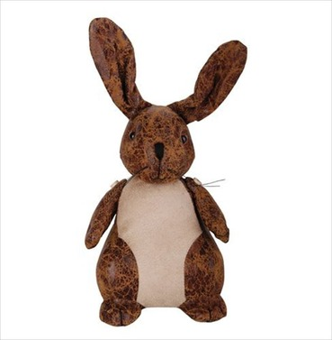 Rabbit Faux Leather Suede Animal Doorstop