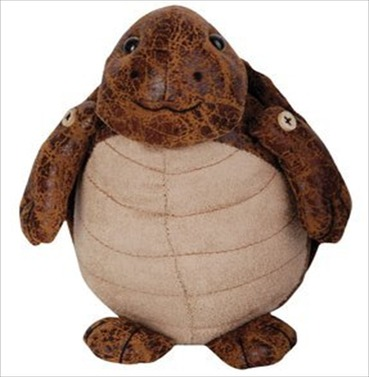 Tortoise Faux Leather Suede Animal Doorstop
