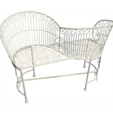 Kissing Seat - Metal 'Love Seat' Bench
