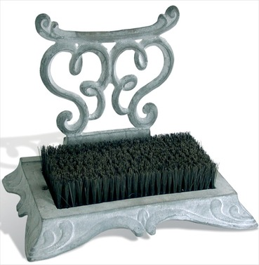 Cast Iron Boot Scraper - Antique Grey