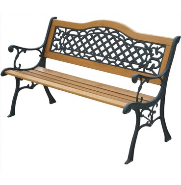 Garden Furniture Mississippi S Bend Bench in Wood and Metal