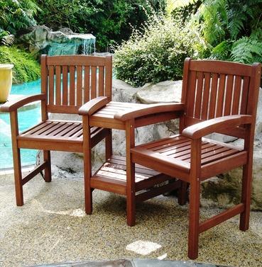 Hardwood Devon Garden Companion Seat