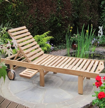 Teak Atlanta Garden Lounger by Rondeau