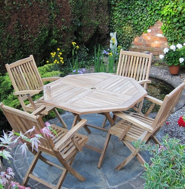 Teak Brooklyn Octagonal Garden Furniture Set