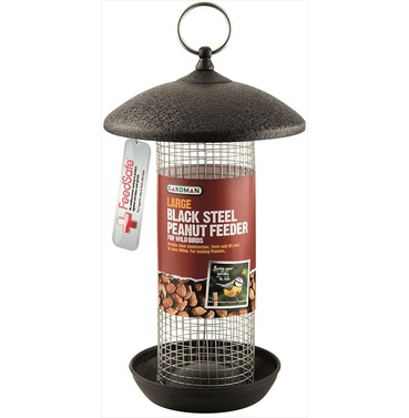 Peanut Feeder - Black Steel - Large - by Gardman
