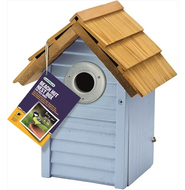 Beach Hut Nest Box in Blue by Gardman