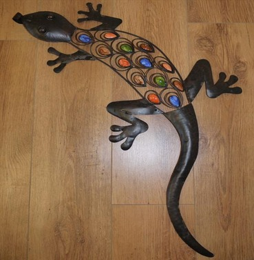 Wall Art Decoration - Large Lizard coloured back