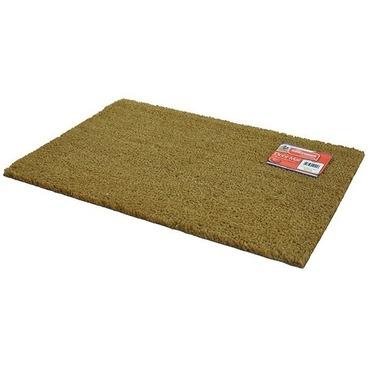 Plain Entrance Floor Door Mat - Natural Coir & Rubber